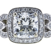 1.25 ct. Cushion Cut Halo Ring, H, VVS2 #1