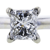 1.00 ct. Princess Cut Bridal Set Ring, G, SI1 #4