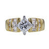 Antique GIA 1.13 ct. Princess Cut Central Cluster Ring, E, VS2 #3