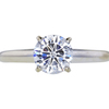 1.06 ct. Round Cut Solitaire Ring, E, I1 #3