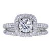 0.70 ct. Round Cut Bridal Set Ring, F, SI2 #3