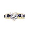 1.17 ct. Heart Cut Bridal Set Ring, F, VS2 #3