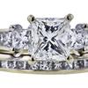 1.03 ct. Princess Cut Bridal Set Ring, I, SI1 #4