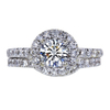 0.71 ct. Round Cut Bridal Set Ring, H, SI1 #3