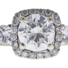 0.88 ct. Round Cut Bridal Set Ring, I-J, I1 #1