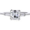 1.21 ct. Square Emerald Cut 3 Stone Ring, E, VS1 #3