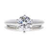 1.26 ct. Round Cut Bridal Set Tiffany & Co. Ring, F, VS1 #3