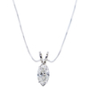 1.16 ct. Marquise Cut Pendant Necklace, J, SI2 #3