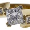 1.03 ct. Princess Cut Solitaire Ring, E, VS1 #4