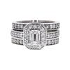 0.84 ct. Emerald Cut Bridal Set Ring, I, SI1 #3