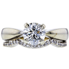 1.13 ct. Round Cut Bridal Set Ring, I-J, SI1 #2