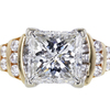 3.51 ct. Princess Cut Solitaire Ring #3
