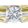 0.73 ct. Round Cut Bridal Set Ring, E, SI2 #1