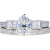 1.20 ct. Oval Cut Bridal Set Ring, H, I1 #3