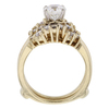 1.00 ct. Round Cut Bridal Set Ring, I, SI2 #3