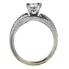 0.95 ct. Princess Cut Bridal Set Ring, F-G, SI2-I1 #3