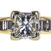 0.89 ct. Princess Cut Bridal Set Ring, G, SI1 #4