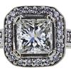 1.52 ct. Princess Cut Halo Ring, J, SI2 #4