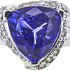 9.07 ct. Triangular Cut Ring, Blue, VS1-VS2 #2