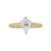 0.88 ct. Pear Cut Solitaire Ring, D, SI2 #3