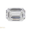 0.97 ct. Emerald Cut 3 Stone Ring, D, SI2 #3