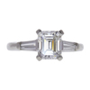 1.45 ct. Emerald Cut 3 Stone Ring, G, SI1 #3