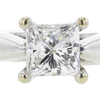 0.91 ct. Princess Cut Bridal Set Ring, F-G, SI2 #1