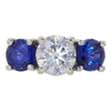2.01 ct. Round Cut 3 Stone Ring, I, SI2 #3