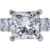 1.00 ct. Princess Cut Bridal Set Ring, J, SI1 #4