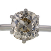 2.94 ct. Old Mine Cut Solitaire Ring #3