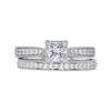 0.5 ct. Princess Cut Bridal Set Ring, D, VVS2 #3