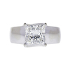 2.5 ct. Princess Cut Solitaire Ring, H, VS2 #4