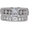 0.97 ct. Princess Cut Bridal Set Ring, F-G, VS2 #1