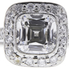 1.15 ct. Cushion Cut Bridal Set Tiffany & Co. Ring, E, VVS2 #1