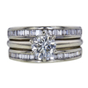 1.01 ct. Round Cut Bridal Set Ring, I, I1 #3
