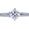 1.00 ct. Round Cut Solitaire Ring, D, SI2 #3