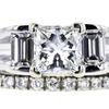 1.23 ct. Princess Cut Bridal Set Ring, G, VS2 #4