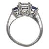 1.01 ct. Princess Cut 3 Stone Ring, G, SI2 #4