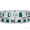 0.91 ct. Asscher Cut Bridal Set Ring, G, VS1 #3