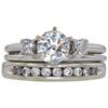 1.0 ct. Round Cut Bridal Set Ring, K, SI2 #3