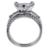1.54 ct. Triangular Modified Cut Bridal Set Ring, D-E, SI1-SI2 #3