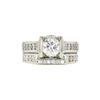 1.05 ct. Round Cut Bridal Set Ring, H-I, SI1-SI2 #2