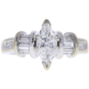 0.9 ct. Marquise Cut Ring, F-G, I1 #1