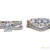 1.01 ct. Cushion Cut Bridal Set Ring, E, SI1 #3