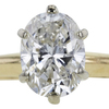1.12 ct. Oval Cut Solitaire Ring, G, SI1 #4