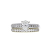 0.91 ct. Oval Cut Bridal Set Ring, H, VVS1 #3