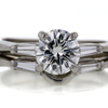 1.01 ct. Round Cut Bridal Set Ring #1