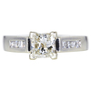 1.09 ct. Princess Cut Solitaire Ring, H, VS2 #3