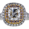 .90 ct. Cushion Cut Halo Ring #2
