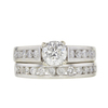 0.95 ct. Round Cut Bridal Set Ring, F-G, I2 #2